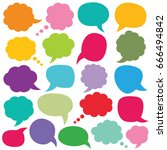 speech and thought bubbles... | Shutterstock .eps vector #666494842