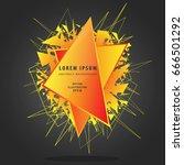 abstract orange explosion on... | Shutterstock .eps vector #666501292