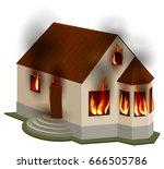 property insurance. private... | Shutterstock .eps vector #666505786