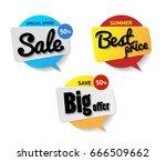 set label sale. special offer...   Shutterstock .eps vector #666509662