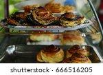 fresh bun. delicious pastries.... | Shutterstock . vector #666516205