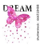 butterfly graphic for t shirt | Shutterstock . vector #666518488