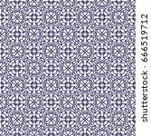 ornamental seamless pattern.... | Shutterstock .eps vector #666519712