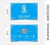 business card modern design... | Shutterstock .eps vector #666521362