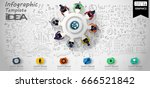 vector cog and  orb  ... | Shutterstock .eps vector #666521842