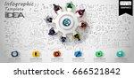 vector cog and  orb  ... | Shutterstock .eps vector #666521842