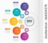 vector dynamic infographics of... | Shutterstock .eps vector #666524278