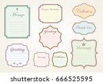 message frame set  vector... | Shutterstock .eps vector #666525595