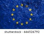 flag of europe | Shutterstock . vector #666526792
