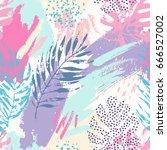 artistic summer grunge seamless ... | Shutterstock .eps vector #666527002
