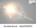 vector transparent sunlight... | Shutterstock .eps vector #666530092