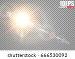 vector transparent sunlight...   Shutterstock .eps vector #666530092