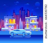 vector illustration of the city ...   Shutterstock .eps vector #666530782