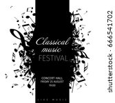 classical music concert poster... | Shutterstock .eps vector #666541702