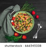 mexican rice with vegetables....   Shutterstock . vector #666545338