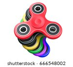 stack of milticolour fidget... | Shutterstock . vector #666548002