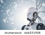 3d rendering robot learning or... | Shutterstock . vector #666551908