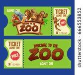 ticket zoo | Shutterstock .eps vector #666553852