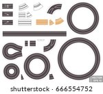 set of roads. vector... | Shutterstock .eps vector #666554752