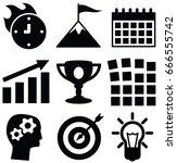 start up vector icon set  | Shutterstock .eps vector #666555742