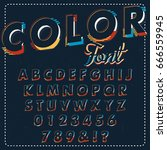 typographic alphabet design set ... | Shutterstock .eps vector #666559945