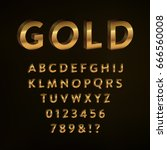 gold letters set   collection... | Shutterstock .eps vector #666560008