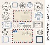 vector illustrations of letters ... | Shutterstock .eps vector #666563152