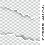 ripped paper transparent with... | Shutterstock .eps vector #666569158