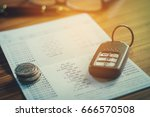 car insurance car remote and... | Shutterstock . vector #666570508