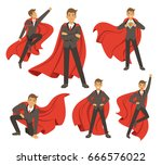 powerful businessman in... | Shutterstock .eps vector #666576022