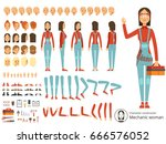 big creation kit of girl... | Shutterstock .eps vector #666576052
