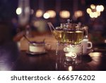 cup teapot drink hot cafe | Shutterstock . vector #666576202