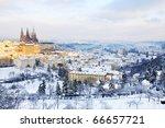 First Snow In Prague  Gothic...
