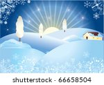 winter village | Shutterstock .eps vector #66658504