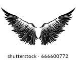 wings. vector illustration on...   Shutterstock .eps vector #666600772