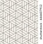 vector seamless pattern. modern ... | Shutterstock .eps vector #666607912