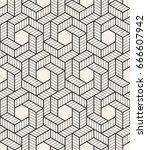 vector seamless pattern. modern ... | Shutterstock .eps vector #666607942