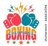 vector vintage sport logo for... | Shutterstock .eps vector #666616546
