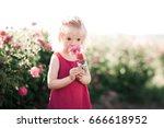 cute baby girl 3 4 year old... | Shutterstock . vector #666618952