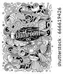 cartoon cute doodles hand drawn ... | Shutterstock .eps vector #666619426