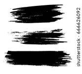 set of grunge shapes in black... | Shutterstock .eps vector #666626092