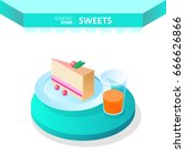 isometric icons   sweets. piece ...