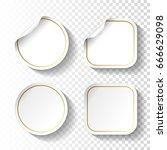 vector set of white paper...   Shutterstock .eps vector #666629098