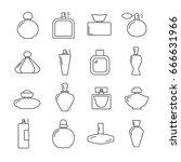 set of perfume related vector... | Shutterstock .eps vector #666631966