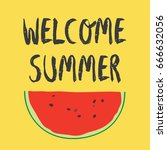 summer backgrounds collection.... | Shutterstock .eps vector #666632056