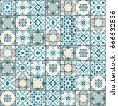 gorgeous seamless pattern white ... | Shutterstock .eps vector #666632836