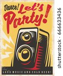 party invitation retro poster... | Shutterstock .eps vector #666633436