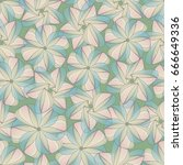 spring seamless pattern with... | Shutterstock .eps vector #666649336