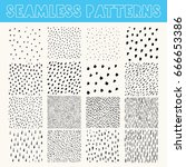 collection of hand drawn vector ... | Shutterstock .eps vector #666653386