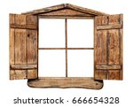 Wooden Window Frame  Isolated...